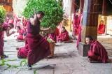 Monks in debate, Jokhang Temple