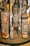 A display of Pukamani grave poles
