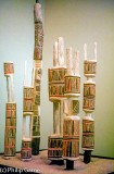 Pukamani poles (in a New York museum)