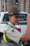 Carabinera (policewoman) directing traffic, Chile
