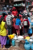 Women gather to collect drinking water