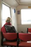 A lone ferry passenger