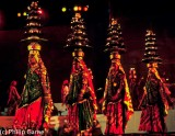 Dancers perform at the Navratri festival, Gandhinagar