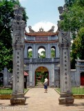 Entrance to the Van Mieu, thousand-year-old Temple of Literature