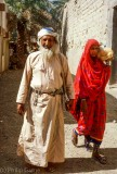 Couple at the old souq in Nizwa
