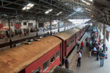 Waiting to board my train to Kandy...