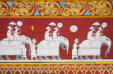 Mural inside the Temple of the Tooth, Kandy