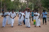 Musicians perform at the evening puja, Kataragama