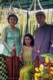 Javanese bride with her parents