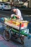 Fruit vendor outside Emporium Mall