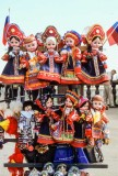 Folk dolls for sale at a street market