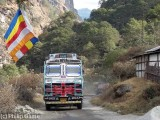 Buddhist flag on the roadside...