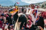 Ritual dance honouring the visit of the Karmapa Lama to Tawang