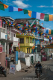 Tawang bedecked with banners for the Lama's arrival