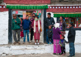 Mon people in the Tawang town centre