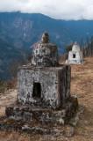 Memorial cairn above the Tawang highway