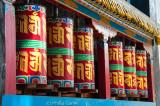 Prayer wheels at Tawang Gompa (Buddhist monastery)