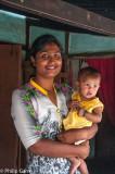 Village mother and child, Assam