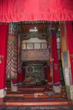 A corner of the Tawang Gompa prayer hall