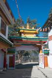 Inside the main gate of Tawang Gompa