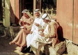 Arab nationals take a break for coffee