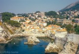 Dubrovnik on the Croatian coast, before the destruction