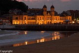 Old Casino at dusk, San Sebastian