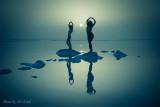 Katerina & Eliska in the Dead Sea