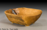 Burr Oak log bowl.