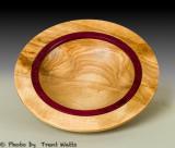 Birch Bowl with Padauk insert.