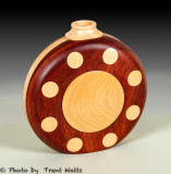 Canteen Vase made from Maple and Bloodwood.