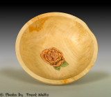 Manitoba Maple bowl with rose.