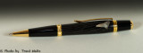 Sierra ballpoint / gold / bog oak (500yrs. old) & sharks tooth (12 million years old)