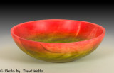 Birch bowl colored with dyes.