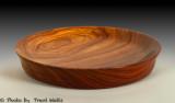 Platter made from Paduak wood.