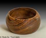 Small bowl made from Bacote.