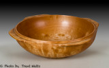 Quilted Maple bowl with handles.