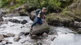 Alex on a rock