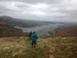 Heading down the north ridge