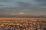 Sunset colours in the Salar de Atacama, Chile