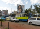 The start of a Monday afternoon traffic jam in downtown Nairobi