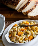 Pasta with Oven-Roasted Butternut Squash, Cheddar and Blue Cheese