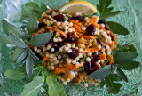 Couscous Salad with Dried Cranberries and Walnuts