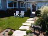 Front walkway to patio