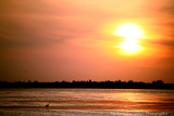 Sunset over water from the bird walk-Myakka River State Park