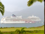 Cruise Ship entering Nawiliwili Bay