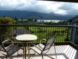 View from our Lanai at the Hanalei Bay Resort