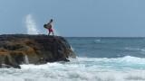 Lumahai Beach Surfer
