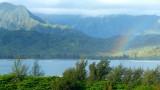 Rainbow over Hanalei Bay