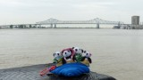 The Pandafords visit the Mississippi River